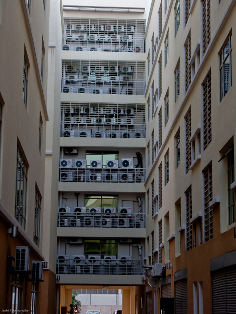 Lots of air conditioners in Malaysia