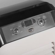 Airconco Mini portable air conditioner display panel, 3 fan speeds, cool, dry and fan only modes.