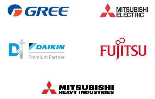 Fabricantes de acondicionadores de aire en los que The Air Conditioning Company ofrece una garantía de 10 años (diseño móvil)