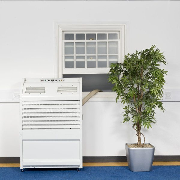 PAC22 6.5kW portable air conditioner installed in an Office