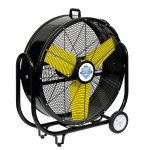 Tank Fan at an angle (facing right) - black and yellow