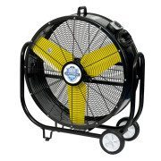 Tank Fan at an angle (facing left) - black and yellow