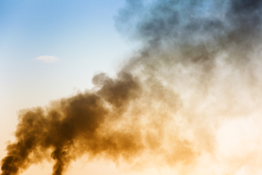 large amount of pollution coming from air con units